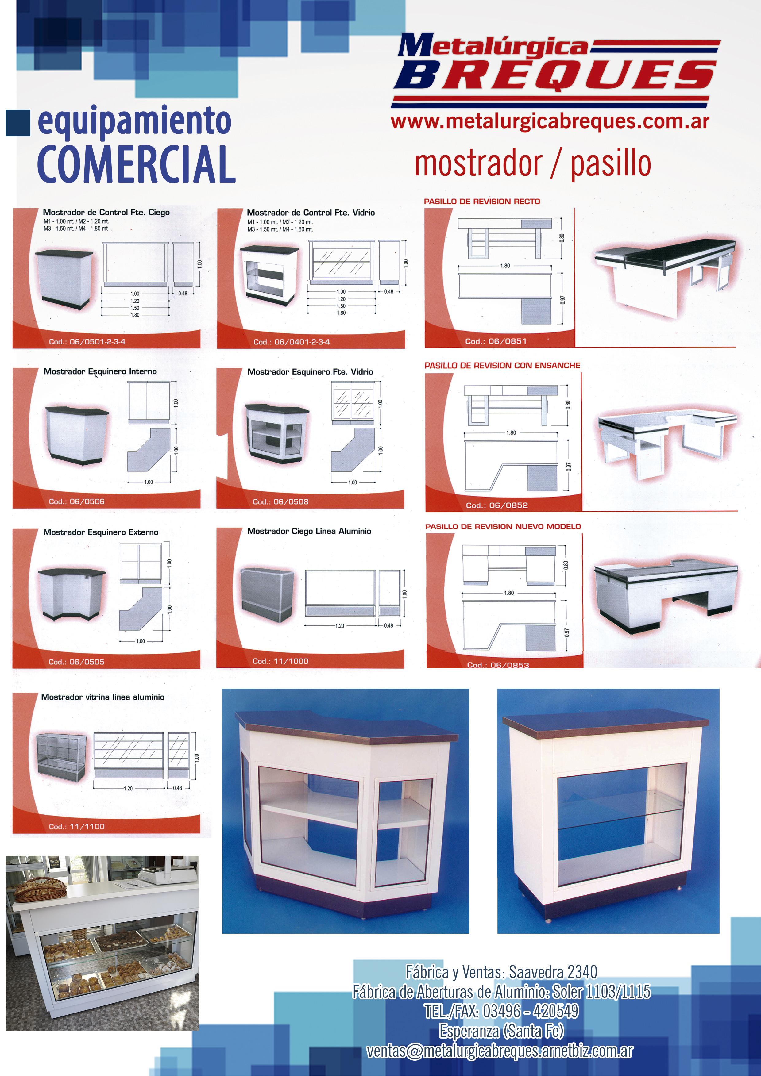 equipamiento comercial-mostrador pasillo
